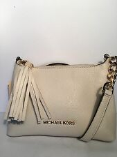 NWT Michael Kors Bedford Crossbody  Leather Bag/ Ecru