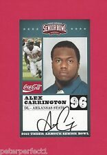 ALEX CARRINGTON 2010 SENIOR BOWL ARKANSAS STATE RED WOLVES ROOKIE BUFFALO BILLS