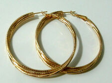 Yellow Gold Earrings Hoop Womens Girls Leverback 9k Hypo Allergenic Large