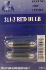 2 United Pacific # 39047_211-2 Red 12 Volt (Dome) Light Bulbs