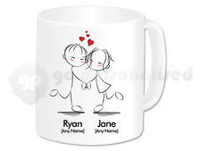 Personalised Love Mug- Dancing Couple Design- Wedding, Valentine's Day Gift