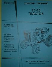 Sears Suburban SS-15 Garden Tractor Owner & Part Manuals 40pg 917.25381 Lawn GT