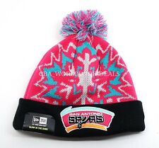New Era NBA San Antonio Spurs Mens Glowflake Glow in the Dark Pom Knit Beanie