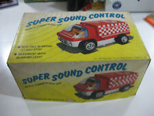 SUPER SOUND CONTROL MOBILE COMMANDER VAN-TINS TOY INDUSTRIAL-1960'S-UNUSED