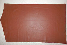 "Soft BROWN Deer Hide Leather Remnants Scraps 11""x17"" avg .6mm thick #391"