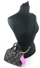NWT BETSEY JOHNSON WOMEN BLACK SHOT BEADS MINI BARREL CROSSBODY BAG
