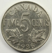 CANADA 1936 NICKEL FIVE CENTS AU KM-29