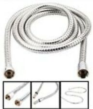 CHROME SHOWER BATH HOSE 2m Flexible Stainless Steel Replacement Tube Pipe UK SEL