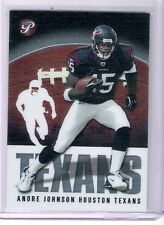 2003 Topps Pristine Texans Andre Johnson Rookie Card # 54