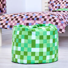 Green Grass Pixels Childrens Filled Beanbag Kids Bedroom Play Room Bean Bag Game