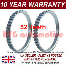 2X ABS RELUCTOR RING FITS HYUNDAI TRAJET 52 TOOTH 85.5MM CV JOINT DRIVESHAFT NEW