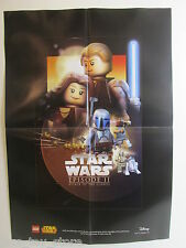LARGE star wars LEGO POSTER ATTACK OF THE CLONES episode II size 60cm X42cm A2