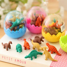 8x Funny Dinosaurs Egg Pencil Rubber Eraser Students Office Stationery Gift Toys