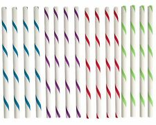 Reusable Plastic BPA Free Smoothie Straws Set of 16