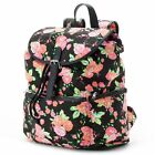 Candie's Nicole Floral Backpack Book School Bag Black Floral - NWT