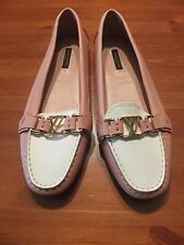LOUIS VUITTON PINK/WHITE FLAT LOAFER BRAND NEW