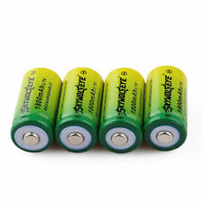 4pcs SKYWOLFEYE 1800mAh 16340 CR123A LR123A 3.7V Rechargeable Li-Ion Battery