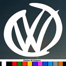 2 x VW Logo Design SURF divertente Auto / Finestra JDM VW Euro Vinile Adesivo Decalcomania