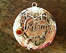 """MOM Tree of Life Locket Mother's Day Necklace on Sterling Silver 18"""" Chain"""