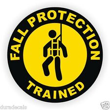 Fall Protection Trained Hard Hat Decal _ Helmet Sticker Safety Harness Scaffold