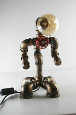 Desktop Robot Lamp Art Deco Table Study Office Bedside Iron Pipe gift