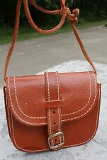 Small Genuine Leather Brown, Shoulder Purse