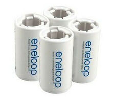 4pcs x Sanyo Eneloop Battery Adaptor Converter AA R6 to C R14 C-Size holder
