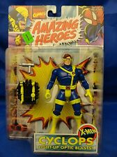 X-Men Cyclops Light Up Optic Blasts Amazing Heroes Action Figure MOC ToyBiz 90's