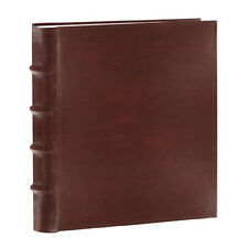 """Pioneer Bonded Leather Photo Album Brown 100 Slip In Pockets  Up To 4"""" x 6"""""""