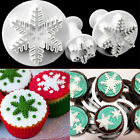 3PC Snowflake Fondant Plunger Cutter SugarCraft Cake Decorating Baking Icing DIY
