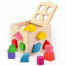 Baby Kids Wooden Learning Educational Toys Early Development Toys 13 Holes Cube