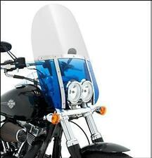 "Memphis Shades Fats Clear 13"" Windshield Kit Harley FXDF Dyna Fat Bob 2008-2013"
