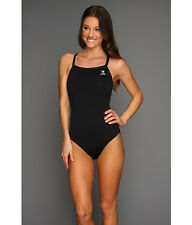 TYR DURAFAST ELITE DIAMOND FIT BACK ONE PIECE SWIMSUIT BLACK SIZE 32 EUC! $66
