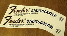 2 Fender Stratocaster Headstock Waterslide Decal Strat Vintage Guitar Neck 68-75