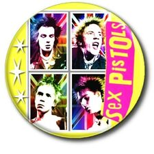 "PUNK!! SID VICIOUS AND JOHNNY ROTTEN... SEX PISTOLS 1""/ 25 mm BUTTON BADGE"