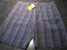 NWT - Mens NIKE Black Striped Cotton Flat Front Shorts (Size 36)