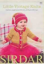 Sirdar Little Vintage Knits Snuggly Baby Bamboo  DK Book Patterns 0-7 years
