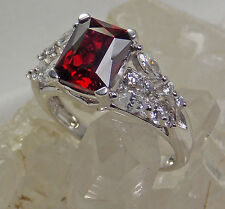 HSN Victoria Wieck 5.12ct Absolute & Created Ruby Bridge Ring SZ 9