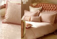 Monsoon Pink Bedding Pillow Cases X3 Standard Oxford Silver Celeste