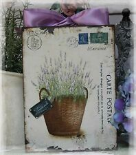 """""""CARTE POSTALE"""" Vintage Shabby~Countr ~Cottage~Chic style~Wall/Door Décor  Sign"""
