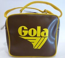 NWT! GOLA Brown Yellow Lunch Bag w/ Straps Hoffman England