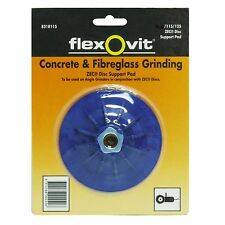 Flexovit ZEK DISC SUPPORT PAD Fits 115/125mm Angle Grinder, BLUE *Aust Brand
