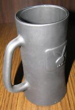 Vintage Playboy Mug/Stein Heavy Ceramic Flat Black w Raised Bunny Logo Unused