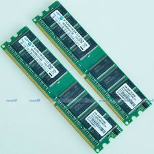 Samsung 2GO 2x1GO PC2700 DDR333 333MHz 184Pin DIMM 2g Desktop Low Density MEMORY