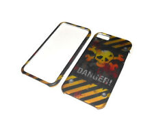 NEW DANGER RIGID PLASTIC 2-PIECE APPLE IPHONE 5 5S CASE SUPER FAST SHIPPING