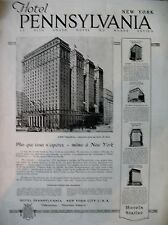 PUBLICITE DE PRESSE TOURISME HOTEL PENNSYLVANIA NEW-YORK CITY FRENCH AD 1921