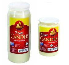 10x 7 DAY Candles & 10x 3 DAY Candles - - - tall Memorial candel pillar lot deal