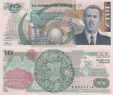 Mexico 10 Pesos (31.7.1992) - p95 Series J/Prefix S UNC