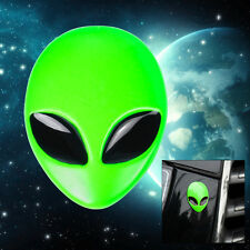 New 3D Full Metal Alien Head Auto Logo Emblem Badge Car Sticker Decal Green