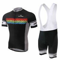 Men's Cycling Clothing (Bib) Shorts + Cycling Jersey UK Road Bike Clothing Set